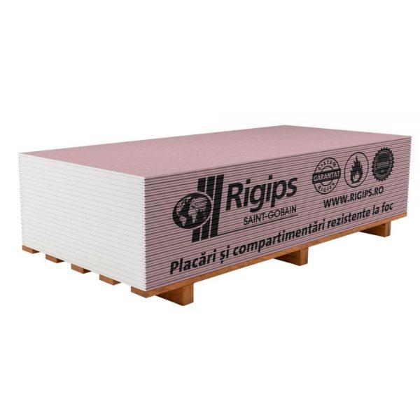 Placa gips carton Rigips RFare 12.5 ,15mmgrosime,2.6 metrilungime si1.2 metrilatime.