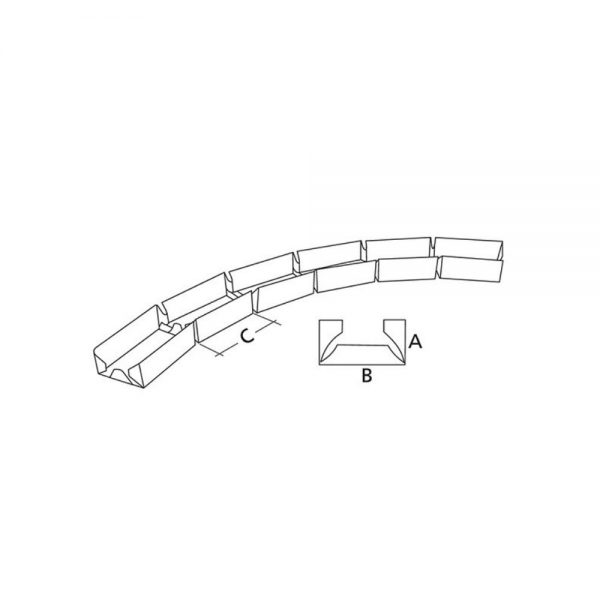 Profil gips carton Rigips Vertebra GV 50 32x50x32x3000 mm