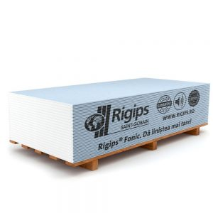 Placa gips carton tip D izolare fonica Rigips Fonic 12.5 x 1200 x 2600 mm